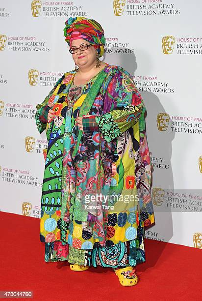 Camila Batmanghelidjh poses in the winners room at the House of Fraser British Academy Television Awards at Theatre Royal on May 10 2015 in London...