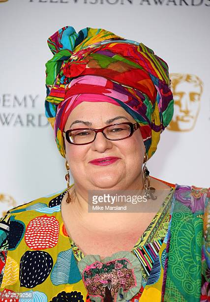 Camila Batmanghelidjh poses in the winners rooms at the House of Fraser British Academy Television Awards at Theatre Royal on May 10 2015 in London...