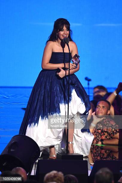 Camila Cabello accepts the award for Vdieo of the Year onstage during the 2018 MTV Video Music Awards at Radio City Music Hall on August 20, 2018 in...
