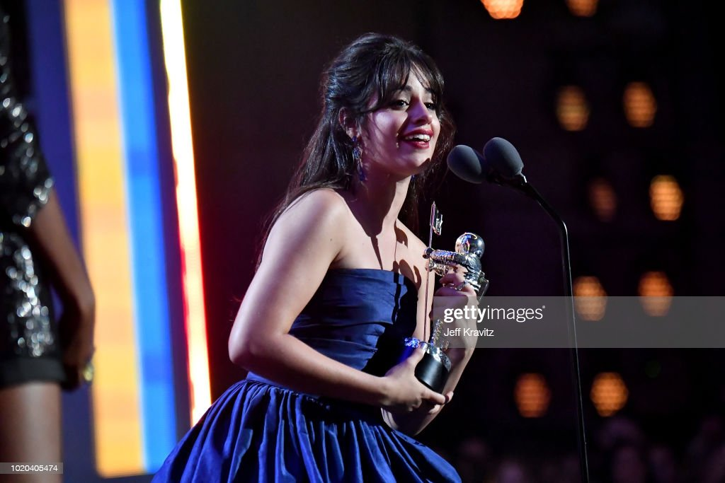 Camila Cabello accepts the award for Video of the Year during the 2018 MTV Video Music Awards at Radio City Music Hall on August 20, 2018 in New York City.