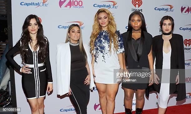 Camila Cabello Ally Brooke Dinah Jane Hansen Normani Hamilton and Lauren Jauregui of Fifth Harmony attend the Z100's iHeartRadio Jingle Ball 2015 at...
