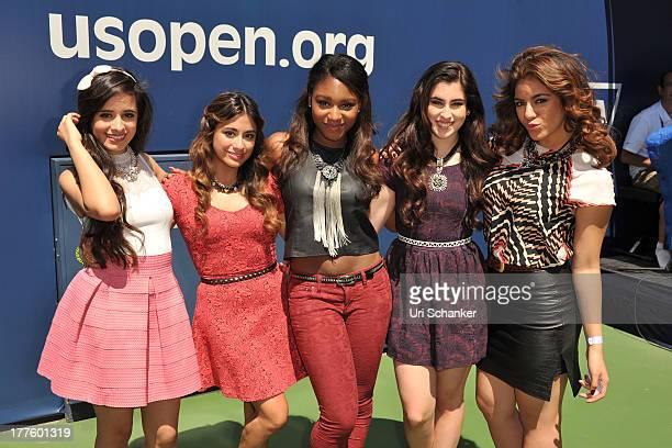 Camila Cabello Ally Brooke Hernandez Normani Hamilton Lauren Jauregui and Dinah Jane Hansen of Fifth Harmony attend the 2013 Arthur Ashe Kids Day at...
