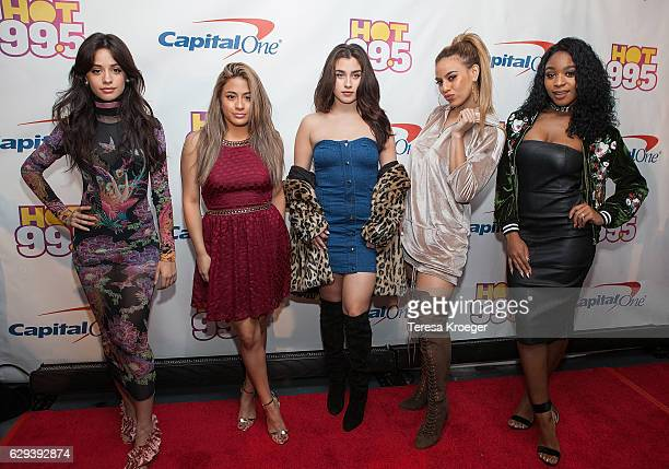 Camila Cabello Ally Brooke Lauren Jauregui Dinah Jane Hansen and Normani Kordei of Fifth Harmony arrive at Hot 995's Jingle Ball 2016 at Verizon...