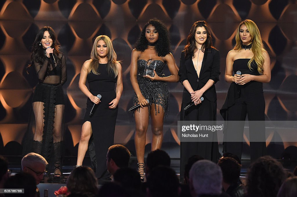 Camilla Cabello, Ally Brooke, Normani Kordei, Dinah Jane, and Lauren Jauregui of Fifth Harmony attend the Billboard Women in Music 2016 event on December 9, 2016 in New York City.