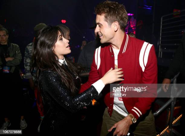 Camila Cabello and GEazy backstage during 1027 KIIS FM's Jingle Ball 2018 Presented by Capital One at The Forum on November 30 2018 in Inglewood...