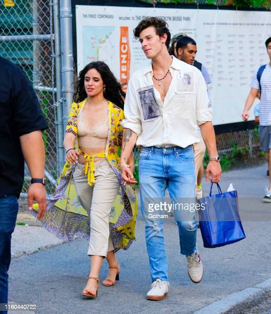 Camila Cabello and Shawn Mendes are seen on August 8 2019 in New York City