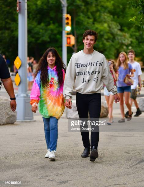 Camila Cabello and Shawn Mendes are seen walking in Brooklyn on August 9 2019 in New York City