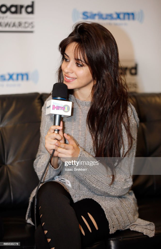 Camila Cabello answers questions during SiriusXM's 'Hits 1 in Hollywood' broadcast on SiriusXM's SiriusXM Hits 1 channel leading up to the Billboard Music Awards at T-Mobile Arena on May 19, 2017 in Las Vegas, Nevada.