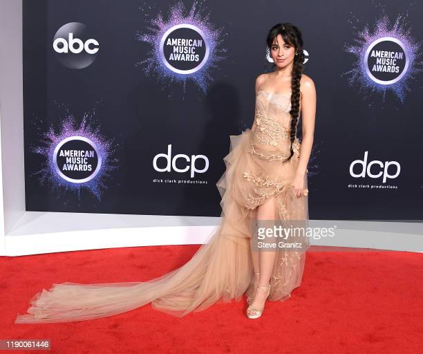 Camila Cabello arrives at the 2019 American Music Awards at Microsoft Theater on November 24 2019 in Los Angeles California