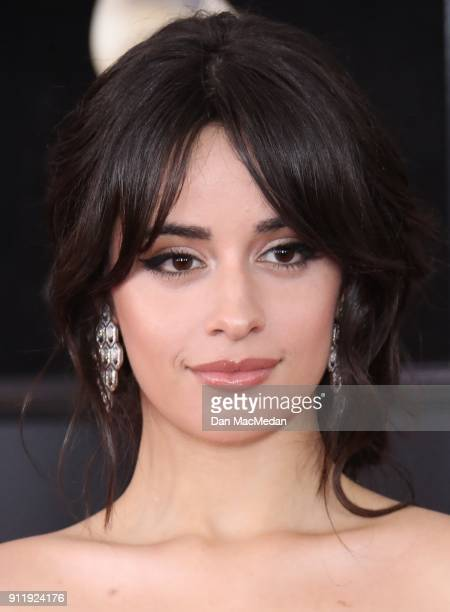 Camila Cabello arrives at the 60th Annual GRAMMY Awards at Madison Square Garden on January 28 2018 in New York City