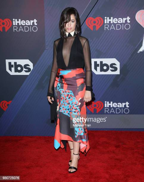Camila Cabello arrives to the 2018 iHeartRadio Music Awards held at The Forum on March 11 2018 in Inglewood California