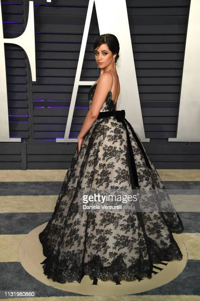 Camila Cabello attends 2019 Vanity Fair Oscar Party Hosted By Radhika Jones at Wallis Annenberg Center for the Performing Arts on February 24 2019 in...