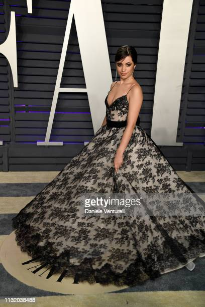 Camila Cabello attends 2019 Vanity Fair Oscar Party Hosted By Radhika Jones Arrivals at Wallis Annenberg Center for the Performing Arts on February...