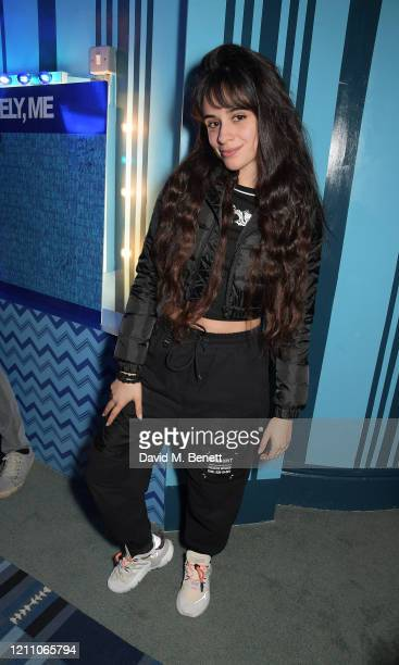 Camila Cabello attends a performance of Dear Evan Hansen at Noel Coward Theatre on March 08 2020 in London England