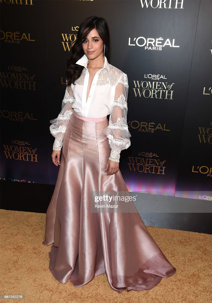 Camila Cabello attends L'Oreal Paris Women of Worth Celebration 2017 on December 6, 2017 in New York City.