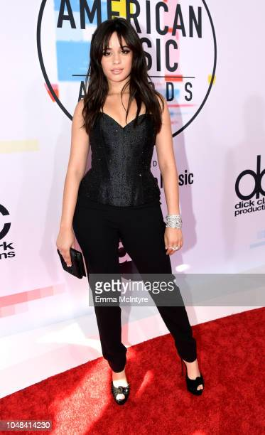 Camila Cabello attends the 2018 American Music Awards at Microsoft Theater on October 9 2018 in Los Angeles California