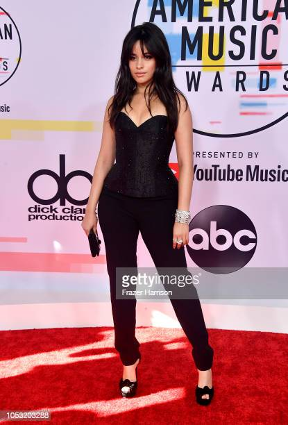 Camila Cabello attends the 2018 American Music Awards at Microsoft Theater on October 09 2018 in Los Angeles California