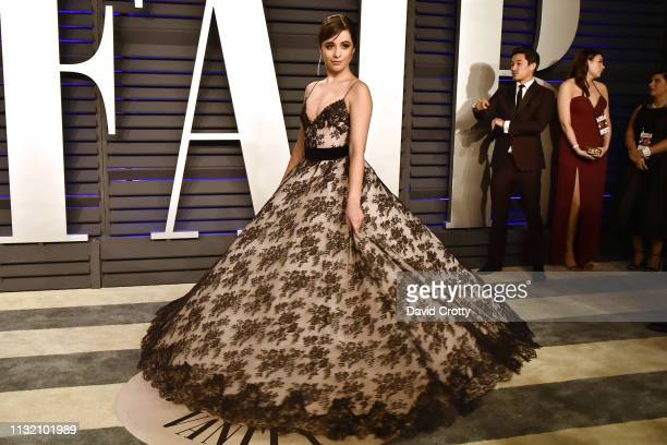 Camila Cabello attends the 2019 Vanity Fair Oscar Party at Wallis Annenberg Center for the Performing Arts on February 24 2019 in Beverly Hills...