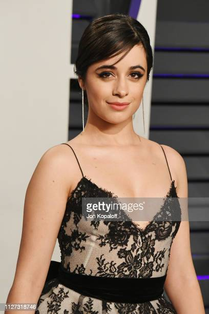 Camila Cabello attends the 2019 Vanity Fair Oscar Party hosted by Radhika Jones at Wallis Annenberg Center for the Performing Arts on February 24...