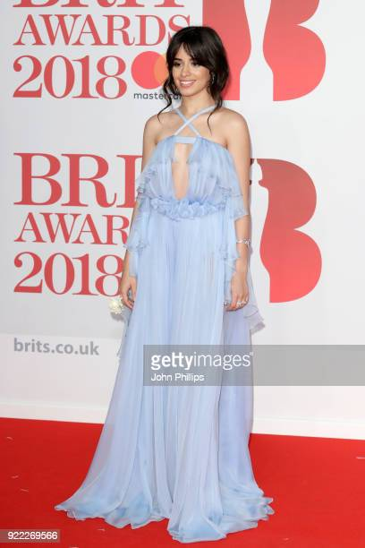 AWARDS 2018*** Camila Cabello attends The BRIT Awards 2018 held at The O2 Arena on February 21 2018 in London England