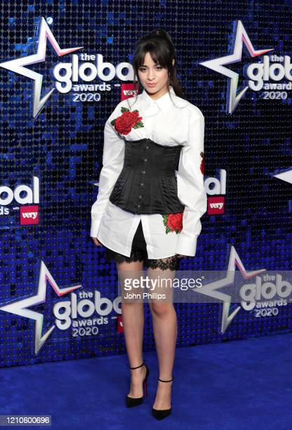 Camila Cabello attends The Global Awards 2020 at Eventim Apollo Hammersmith on March 05 2020 in London England