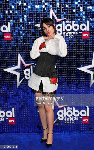 Camila Cabello attends The Global Awards 2020 at the Eventim Apollo Hammersmith on March 05 2020 in London England