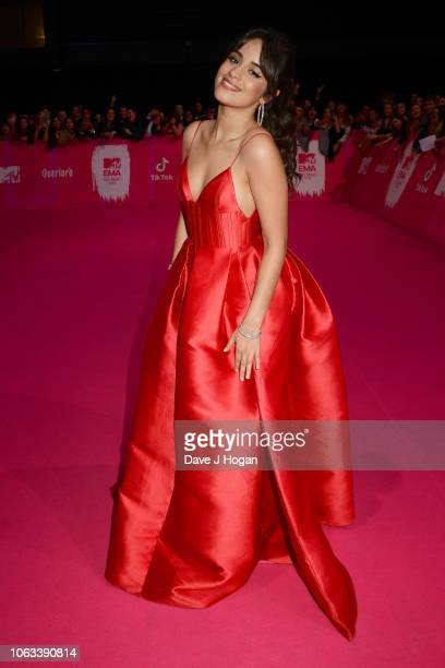 Camila Cabello attends the MTV EMAs 2018 at the Bilbao Exhibition Centre on November 04 2018 in Bilbao Spain