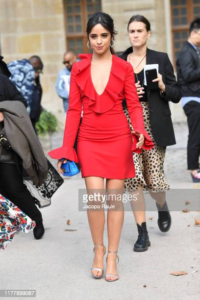 Camila Cabello attends the Valentino Womenswear Spring/Summer 2020 show as part of Paris Fashion Week on September 29, 2019 in Paris, France.