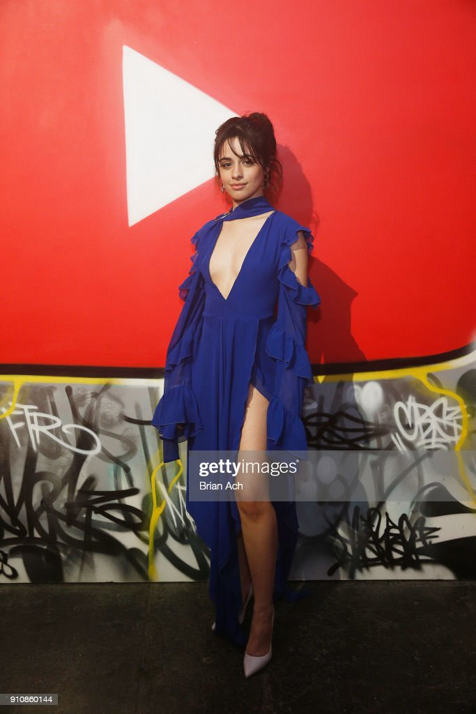Camila Cabello attends YouTube brings the BOOM BAP BACK to New York City With Lyor Cohen, Nas, Grandmaster Flash, Q-Tip, Chuck D and Fab 5 Freddy on January 26, 2018 at Industria in New York City.