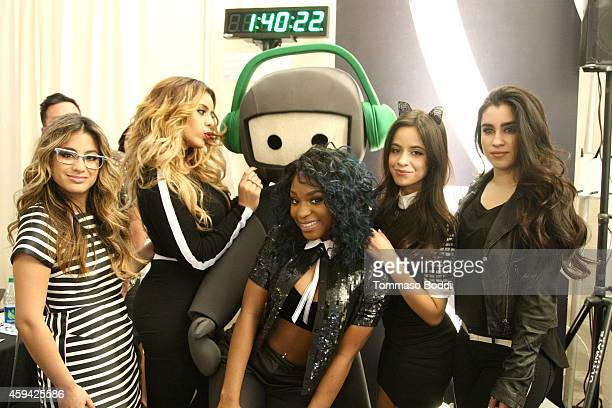 Camila Cabello Dinah Jane Hansen Normani Hamilton Ally Brooke and Lauren Jauregui of the musical group 5th Harmony attend Red Carpet Radio presented...
