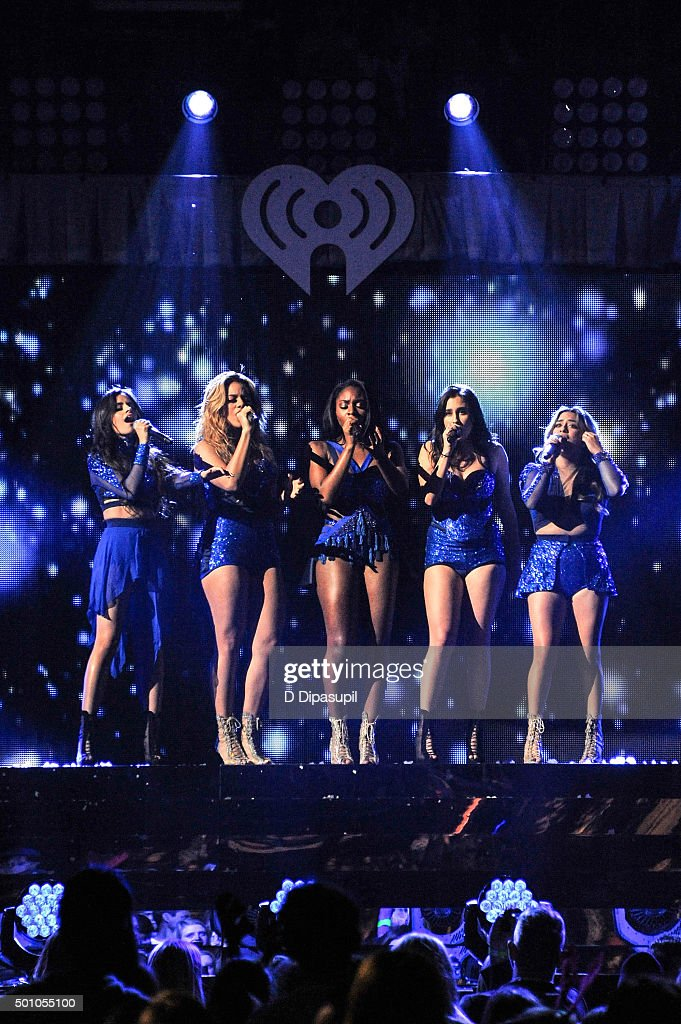 Camila Cabello, Dinah Jane, Normani Kordei, Lauren Jauregui, and Ally Brooke of Fifth Harmony perform onstage during Z100's iHeartRadio Jingle Ball 2015 at Madison Square Garden on December 11, 2015 in New York City.