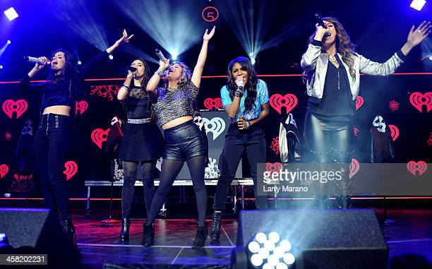 Camila Cabello Lauren Jauregui Ally Brooke Normani Kordei and Dinah Jane Hansen of Fifth Harmony perform onstage during Y100's Jingle Ball 2013...