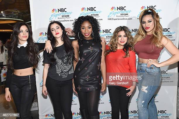Camila Cabello Lauren Jauregui Normani Kordei Hamilton Ally Brooke Hernandez and Dinah Jane Hansen of Fifth Harmony visit the NBC Experience Store on...