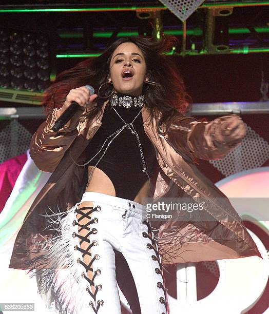 Camila Cabello of Fifth Harmony performs onstage during Power 961's Jingle Ball 2016 at Philips Arena on December 16 2016 in Atlanta Georgia