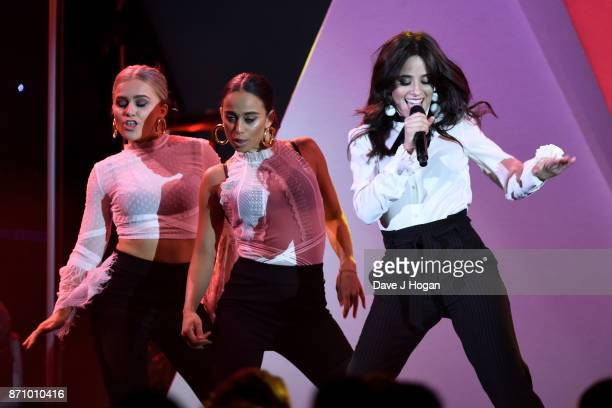 Camila Cabello performs at the 26th annual Music Industry Trust Awards held at The Grosvenor House Hotel on November 6 2017 in London England