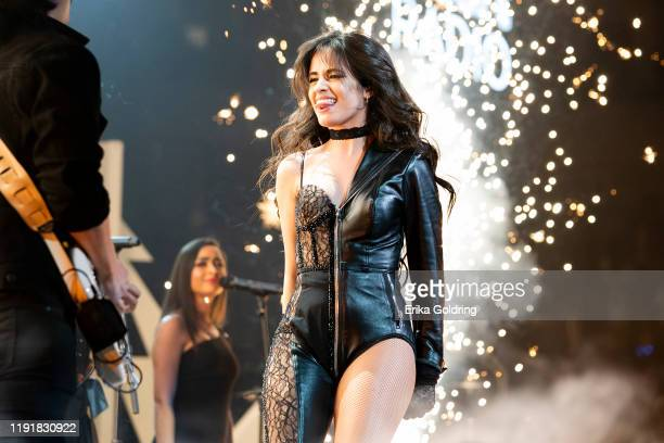 Camila Cabello performs during 1061 KISS FM's Jingle Ball 2019 at Dickies Arena on December 03 2019 in Fort Worth Texas