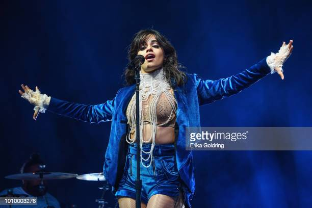 Camila Cabello performs during 2018 Lollapalooza at Grant Park on August 2 2018 in Chicago Illinois