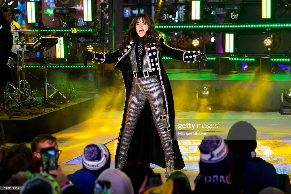 Camila Cabello performs during Dick Clark's New Year's Rockin' Eve 2018 at Times Square on December 31, 2017 in New York City.