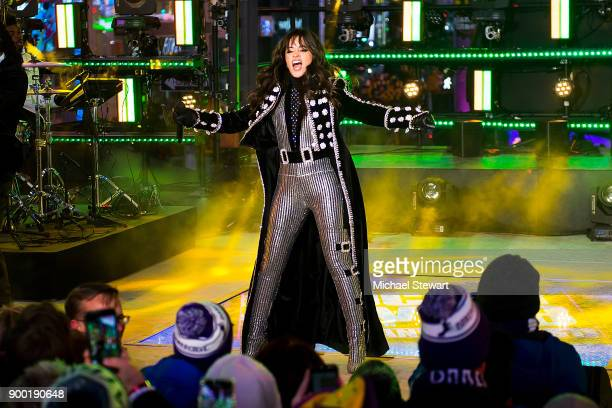 Camila Cabello performs during Dick Clark's New Year's Rockin' Eve 2018 at Times Square on December 31 2017 in New York City