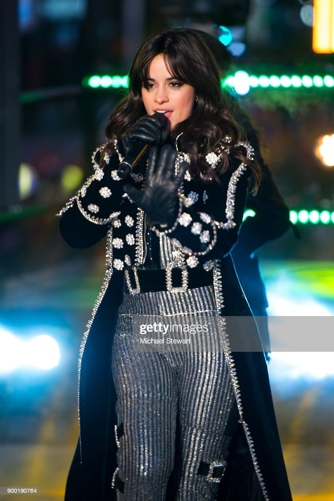Camila Cabello Performs During Dick Clarks New Years -8175