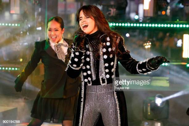 Camila Cabello performs during Dick Clark's New Year's Rockin' Eve at Times Square on December 31 2017 in New York City