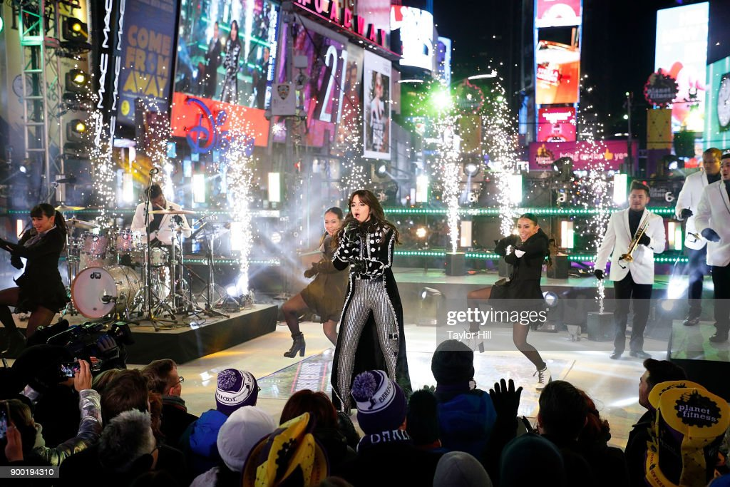 Camila Cabello performs during Dick Clark's New Year's Rockin' Eve at Times Square on December 31, 2017 in New York City.