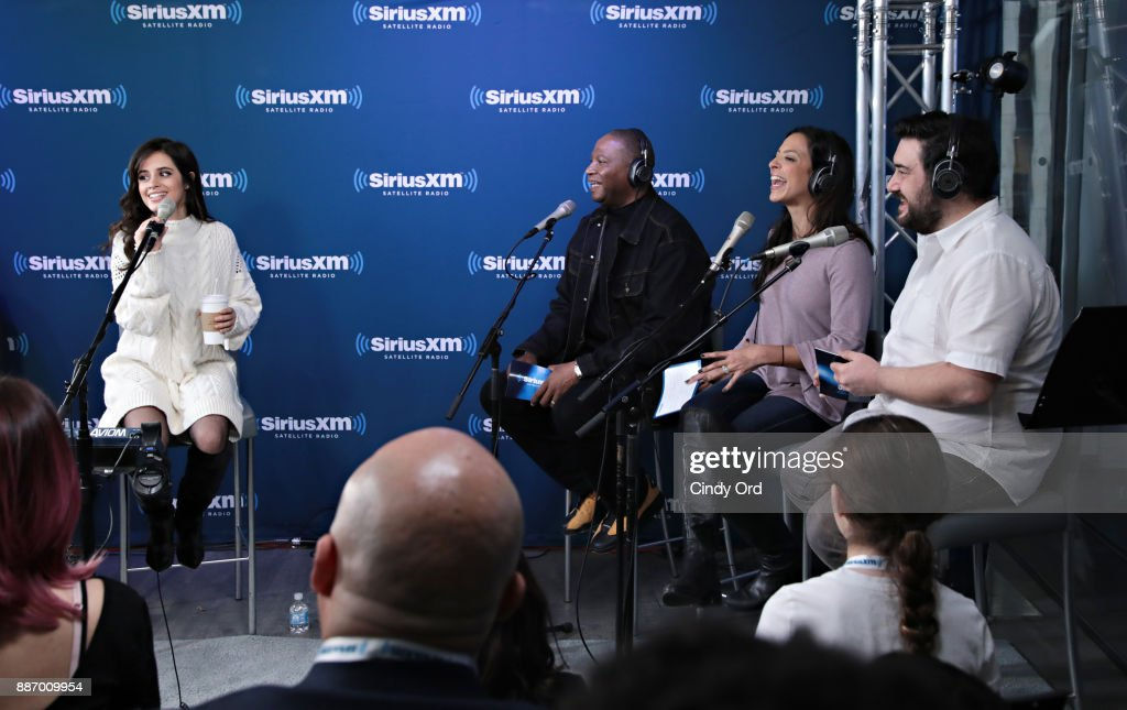 Camila Cabello performs live during a 'Celebrity Session' on SiriusXM Hits 1 at SiriusXM Studios on December 6, 2017 in New York City.