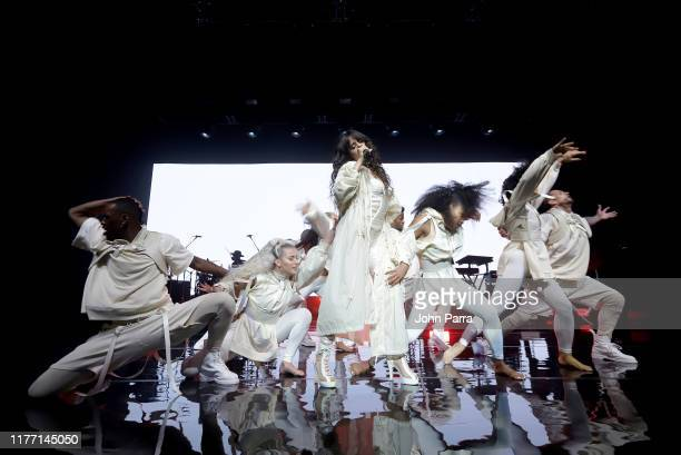 Camila Cabello performs live during private concert for Verizon Up Members at The Fillmore Miami Beach on September 25 2019 in Miami Beach Florida