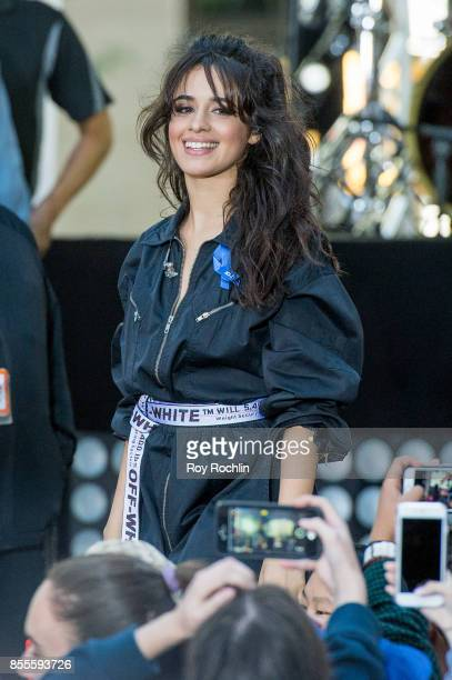 Camila Cabello performs on NBC's 'Today' at Rockefeller Plaza on September 29 2017 in New York City