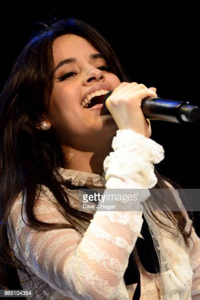 Camila Cabello performs on stage at the BBC Radio 1 Teen Awards 2017 at Wembley Arena on October 22 2017 in London England
