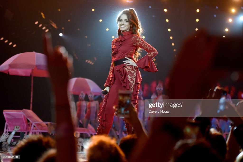 Camila Cabello performs on stage during the MTV EMAs 2017 held at The SSE Arena, Wembley on November 12, 2017 in London, England.