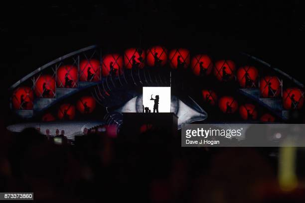 Camila Cabello performs on stage during the MTV EMAs 2017 held at The SSE Arena Wembley on November 12 2017 in London England