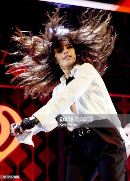 Camila Cabello performs onstage at 1061 KISS FM's Jingle Ball 2017 Presented by Capital One at American Airlines Center on November 28 2017 in Dallas...