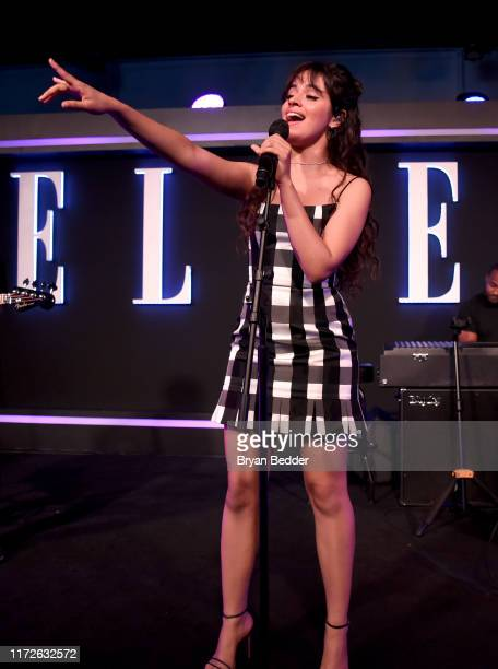 Camila Cabello performs onstage at ELLE Women in Music presented by Spotify and hosted by Nina Garcia Jameela Jamil E Entertainment on September 05...